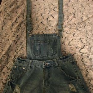 Denim - Blue Jean Short Overalls